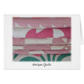 Tarjeta Edredones antiguos en rosa