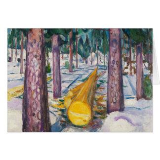 Tarjeta Edvard Munch - el registro amarillo