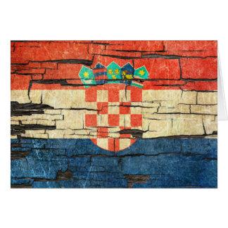Tarjeta Efecto croata agrietado de la pintura de la