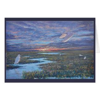 Tarjeta Egrets blancos