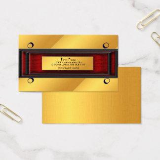 Tarjeta ejecutiva del oro