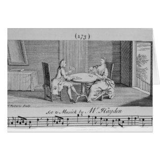 Tarjeta Ejemplo a la partitura de Joseph Haydn