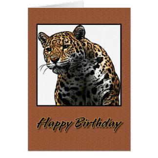 Tarjeta Ejemplo de Jaguar del feliz cumpleaños