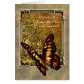 Tarjeta Ejemplo de la mariposa del estilo del vintage