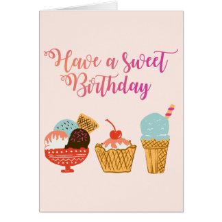 Tarjeta Ejemplo del helado del cumpleaños
