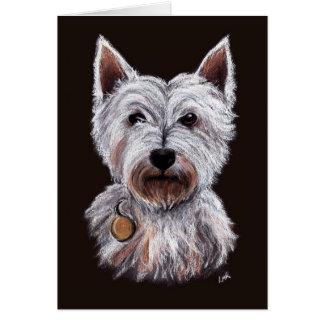 Tarjeta Ejemplo del oeste del pastel del perro de Terrier