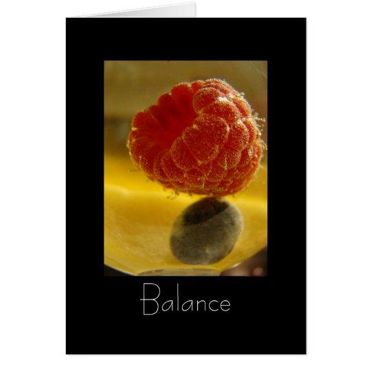 Tarjeta Ejercicio de equilibrio (con el poema)