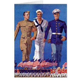 Tarjeta Ejército, marina de guerra y infantes de marina