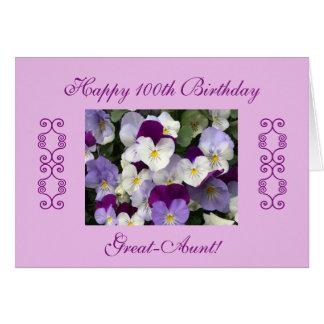 Tarjeta El 100o cumpleaños de las Grande-Tías