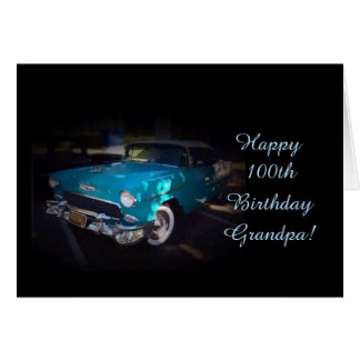 Tarjeta El 100o cumpleaños del abuelo