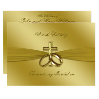 Tarjeta El 50.o aniversario de boda de oro religioso