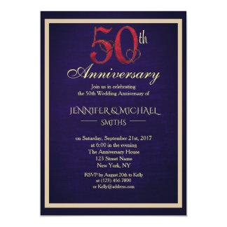 Tarjeta El 50.o aniversario de boda elegante hermoso