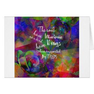 Tarjeta El alma tiene alas como pájaro