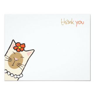 Tarjeta El amante del gato siamés el | plano le agradece