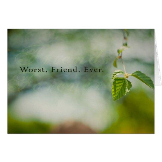 Tarjeta El amigo peor nunca