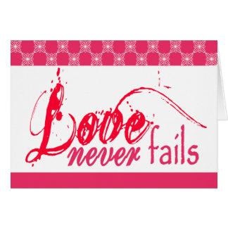 Tarjeta El amor cristiano nunca falla
