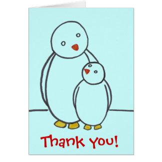 Tarjeta El amor del padre del pingüino le agradece