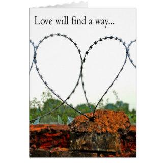 Tarjeta El amor encontrará una manera