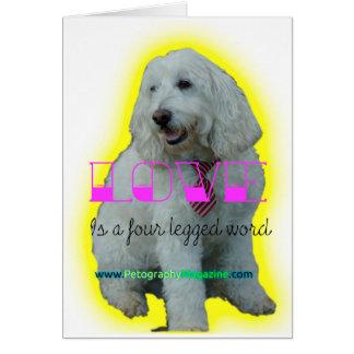 Tarjeta El amor es una palabra legged cuatro