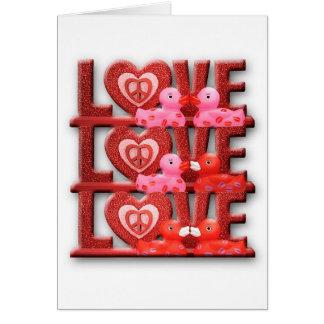 Tarjeta El amor hace que el mundo va 'redondo