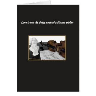 Tarjeta El amor no es un quejido de muerte