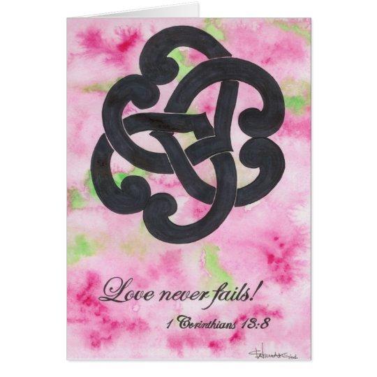 Tarjeta ¡El amor nunca falla!