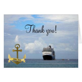Tarjeta El ancla náutica de la nave le agradece las