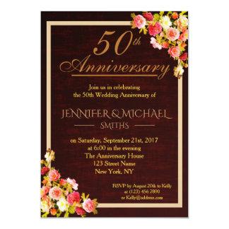 Tarjeta El aniversario de boda elegante del ramo floral