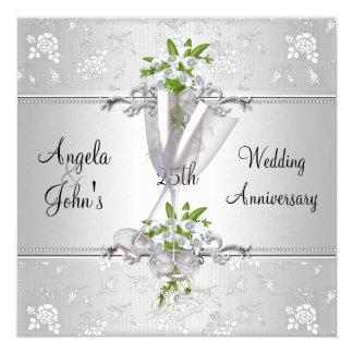 Tarjeta El aniversario de boda elegante invita