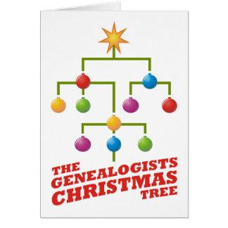 Tarjeta El árbol de navidad de los Genealogists