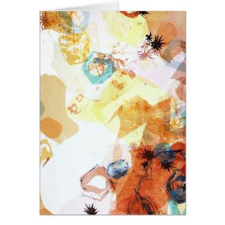 Tarjeta El arte abstracto posible infinito oscila formas