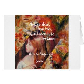 Tarjeta El arte de Renoir es lleno de emociones