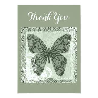 Tarjeta El arte elegante de la mariposa le agradece cardar