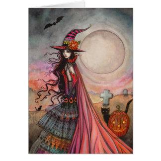 Tarjeta El arte imaginario de la fantasía de Halloween de
