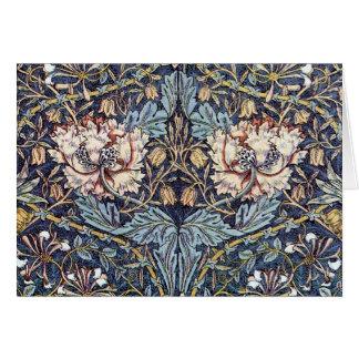 Tarjeta El arte Nouveau de la madreselva florece la
