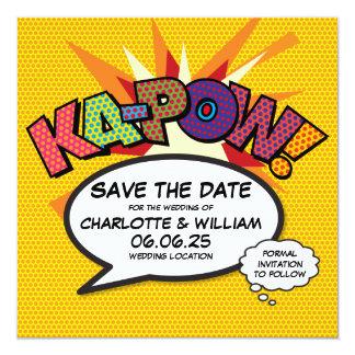 Tarjeta El arte pop del cómic KA-POW ahorra la fecha