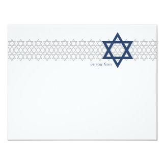 Tarjeta El azul brillante de Mitzvah de la barra de la