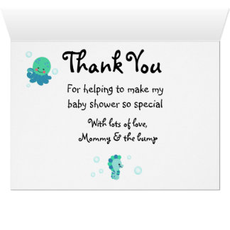 Tarjeta ¡El azul debajo de la fiesta de bienvenida al bebé