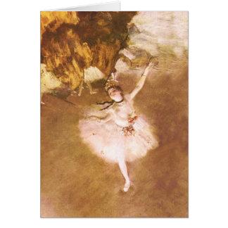 Tarjeta El bailarín de ballet desgasifica la pintura