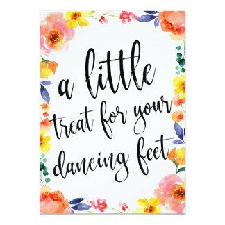 Tarjeta El baile calza la muestra floral asequible del