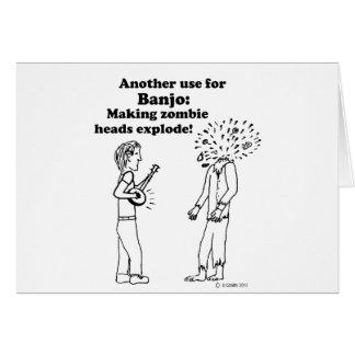 Tarjeta El banjo hace que los zombis estallan