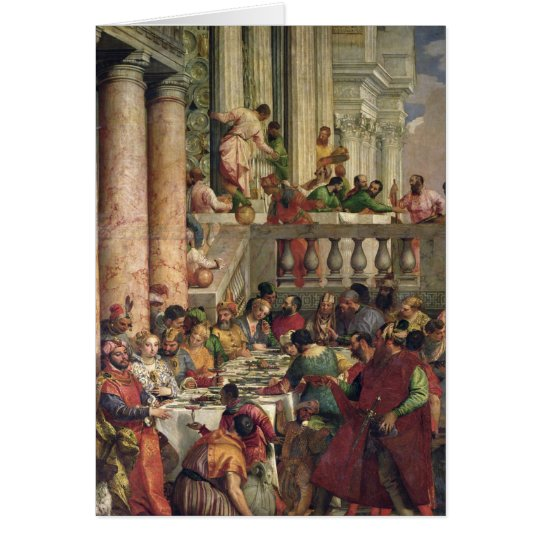Tarjeta El banquete de la boda en Cana