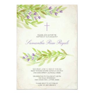 Tarjeta El bautismo del verdor invita a las flores de la