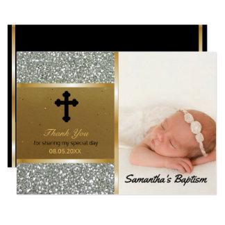 Tarjeta El bautismo le agradece oro de encargo de la plata