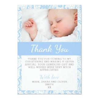 Tarjeta El bautizo del bebé le agradece cardar