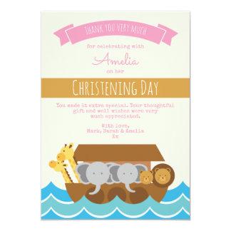 Tarjeta El bautizo/el bautismo del chica le agradece