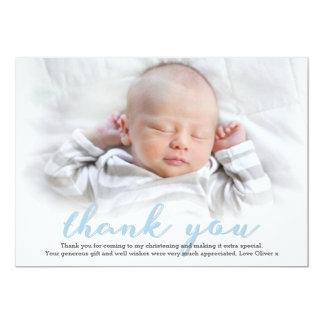 Tarjeta El bautizo/el bautismo del muchacho le agradece
