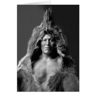 Tarjeta El Belly del oso - curandero de Arikara