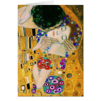 Tarjeta El beso de Gustavo Klimt
