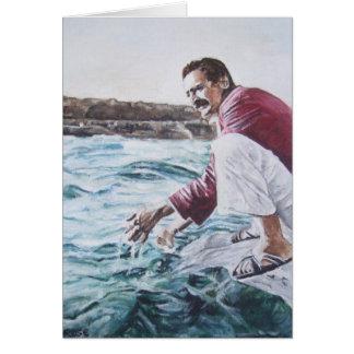 Tarjeta El bizcocho borracho de Meher sumerge en su océano